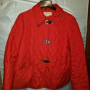 Red Michael Kors Quilted Jacket
